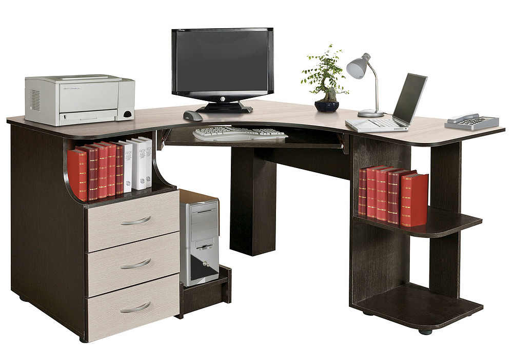 не угловой компьютерный стол фото